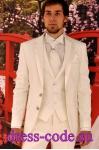 Мужской костюм 1482-6007 молочного цвета TOЯRES