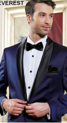 Мужской костюм 147 EVEREST синий смокинг