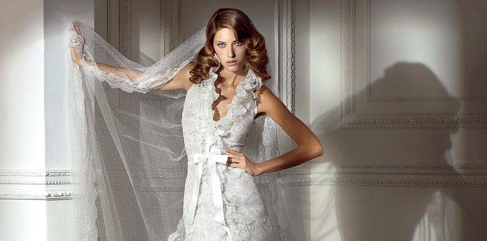 кружевное свадебное платье с открытой