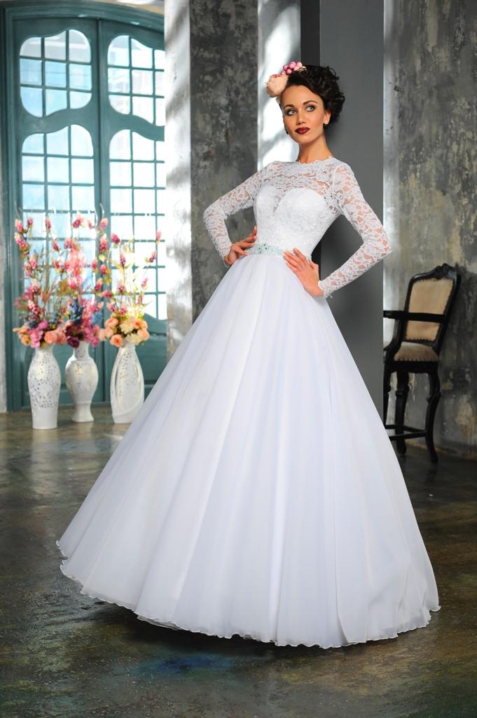 Новое поступление свадебных платьев 2015! Свадебные платья с рукавами, пышные свадебные платья