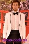 Мужской костюм 1487-6032-14 белый смокинг с черными брюками TOЯRES