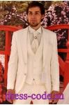Мужской костюм 583-6 Baggi молочного цвета