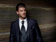 Мужской классический костюм 168-210 HITIT (бежевый, коричневый, синий)