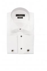 Мужская сорочка с запонками белая