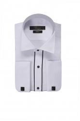 Мужская сорочка с запонками с цветной отделкой
