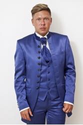 Мужской костюм френч 2033 индиго