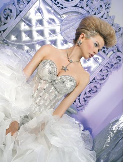 Свадебный корсет 106-37 и юбка 106-35