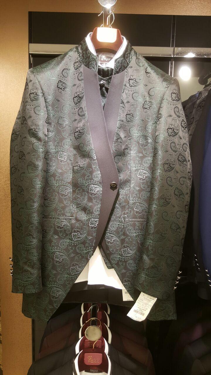 Зеленый френч, жаккардовый пиджак